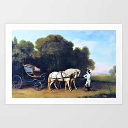 12,000pixel-500dpi - Phaeton With A Pair Of Cream Ponies And A Stable-lad - George Stubbs Art Print
