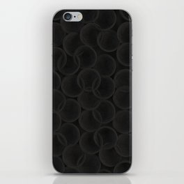 Black spiraled coils iPhone Skin