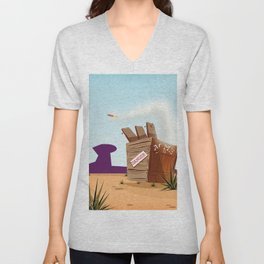 acme rocket crate Unisex V-Neck