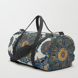 Mandala Blue and Gold Duffle Bag