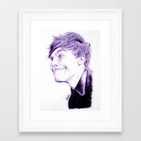 louis tomlinson Framed Art Prints featuring Louis Tomlinson by Drawpassionn