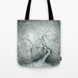 Tree Crippled by Chains Tote Bag