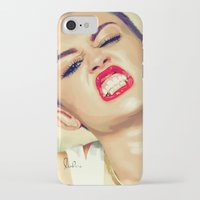 miley cyrus iPhone & iPod Cases featuring Miley Cyrus by Nicolaine