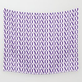 Purple XOXO Wall Tapestry