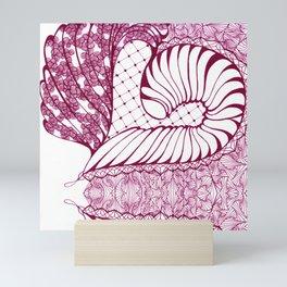 Fuchsia Pop Art Deco Doodle Design Mini Art Print