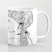 marie antoinette Mugs featuring Marie Antoinette by Nicholas Darby