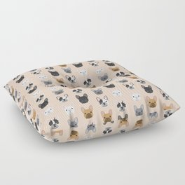 French Bulldog portraits pattern dog person gift love animal pet puppy frenchie bulldog portrait Floor Pillow