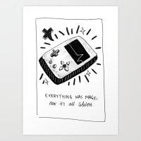 Technology Was Magic Art Print