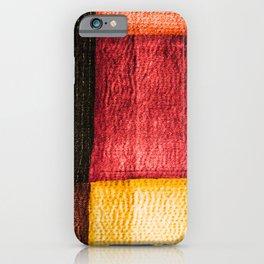 Red Sashiko iPhone Case