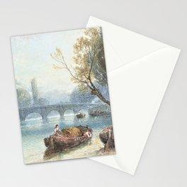 12,000pixel-500dpi - Myles Birket Foster - Kew Bridge from Strand on the Green - Digital Remaster Stationery Cards