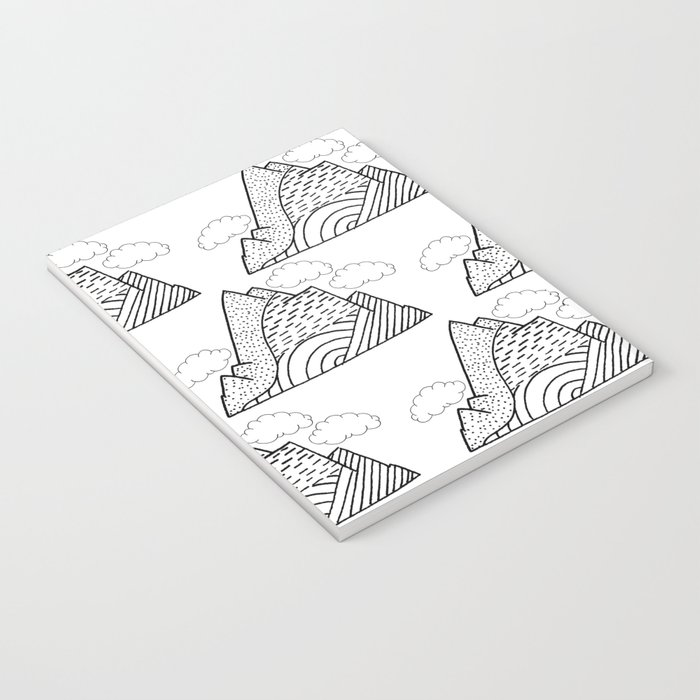 The small clouds and the mountains pattern Notebook