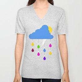 Raindrops Unisex V-Neck