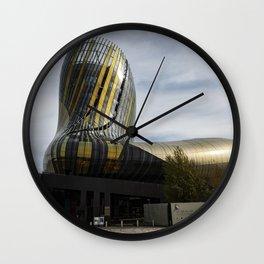 Cité du Vin of Bordeaux, France Wall Clock