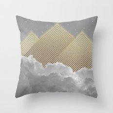 Silence is the Golden Mountain Throw Pillow