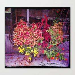 KINGSPORT TN - SHOPFRONT FLOWERS Canvas Print