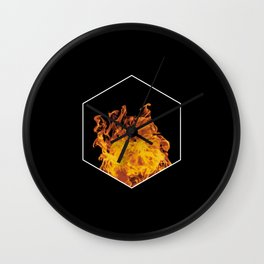Fire hexagon abstract - Fire sign - The Five Elements Wall Clock