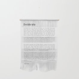 Desiderata #minimalism Wall Hanging