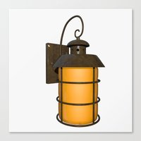 outdoor Canvas Prints featuring Outdoor Lamp by Taoteching / C4Dart