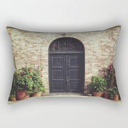 Courtyard Door Rectangular Pillow