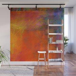 Orange Study #2 Digital Painting Wall Mural