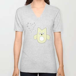 frenchie owl Unisex V-Neck