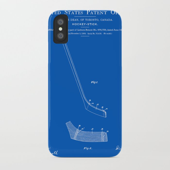 Hockey stick patent blueprint iphone case by finlaymcnevin society6 hockey stick patent blueprint iphone case malvernweather Images
