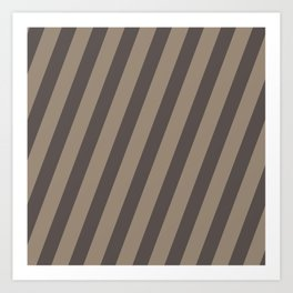 Rich Earth Stripes Art Print