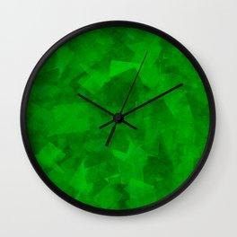 Emerald Fragments Wall Clock