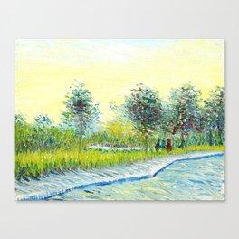 Van Gogh : park in Asnieres Canvas Print