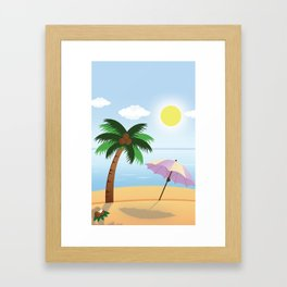 Simpe Vector Beach Framed Art Print