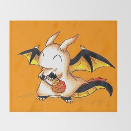 Trick or Treat Dragon Throw Blanket