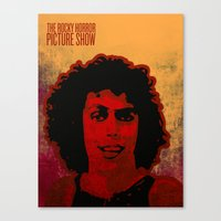 rocky horror picture show Canvas Prints featuring The Rocky Horror Picture Show by Rabassa