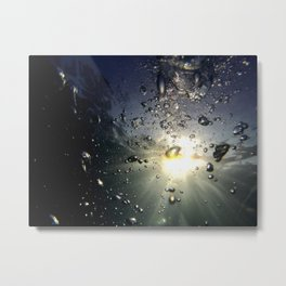 Bubbles in the sun Metal Print