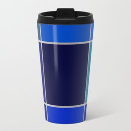 Cobalt , patchwork Travel Mug