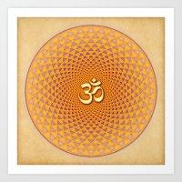 Lotus / Namaste  Art Print