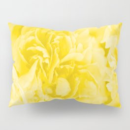 Yellow Peony Petals in Close-up #decor #society6 #buyart Pillow Sham