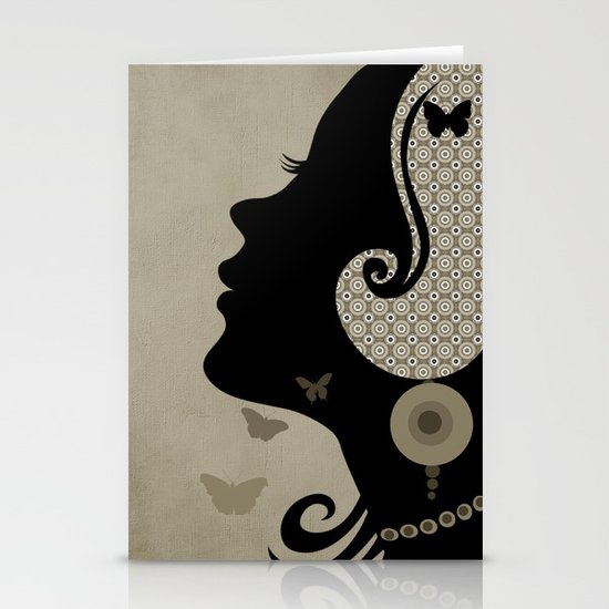 madame butterfly (II) Stationery Cards