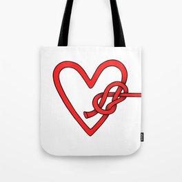 knot in love Tote Bag