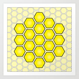 Save the Bees Design Three Art Print