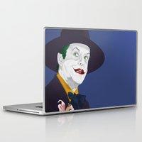 jack nicholson Laptop & iPad Skins featuring Joker Nicholson by FSDisseny