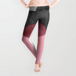 2 Minimal Circles Abstract Leggings