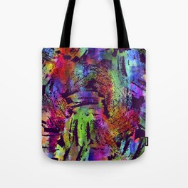 Rainbow cool brush Tote Bag