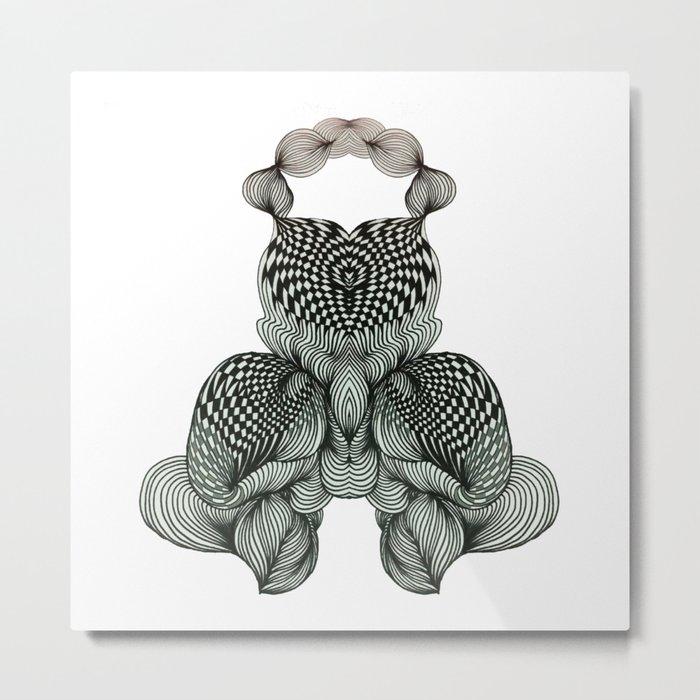 Transformation of Black&White No.1 Metal Print