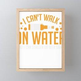 BEER: I Can't Walk On Water Framed Mini Art Print