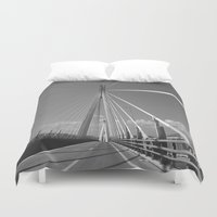 bridge Duvet Covers featuring Bridge by Pauline Gauer