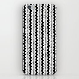Black White and Silver Vertical Jiggle iPhone Skin