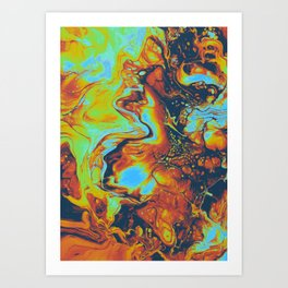 CANDLELIGHT EXCHANGES Art Print