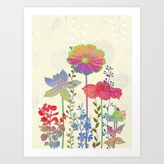 Flower Tales 4 Art Print