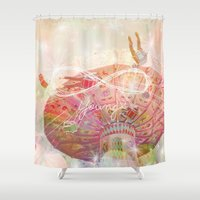 forever young Shower Curtains featuring Forever Young by Lisa Argyropoulos