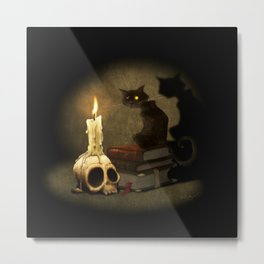 The Black Cat Metal Print